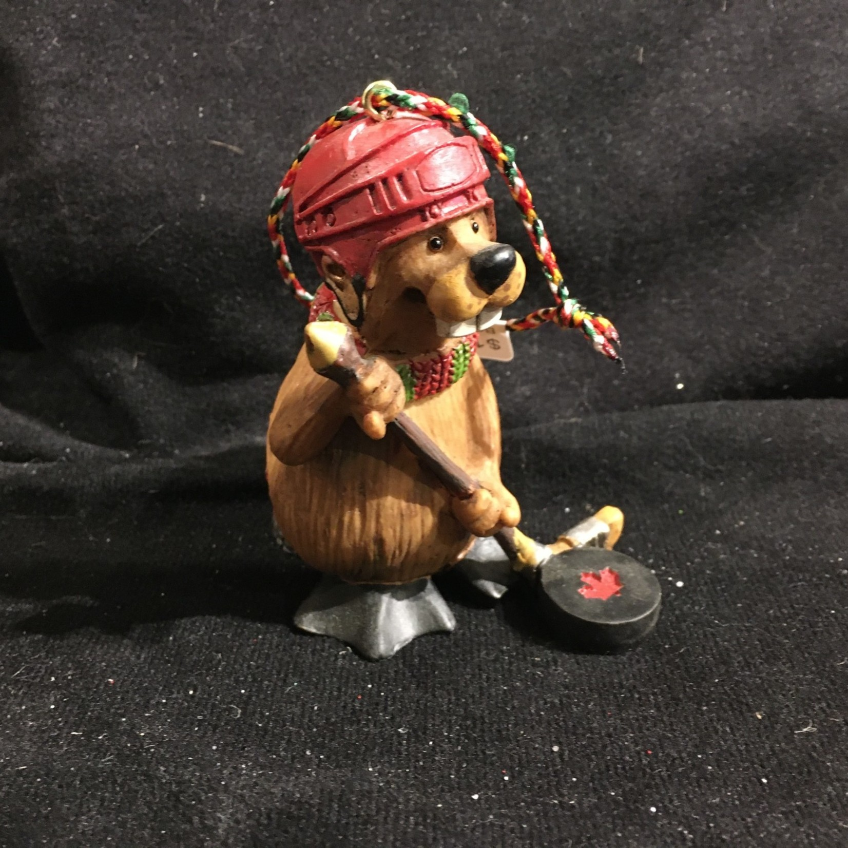 Buddy the Beaver Orn - Hockey