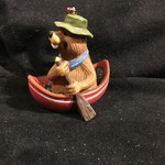 "Buddy the Beaver Figurine - Paddling 3 x 3"""