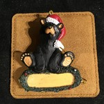 **Bear in Santa Hat Orn