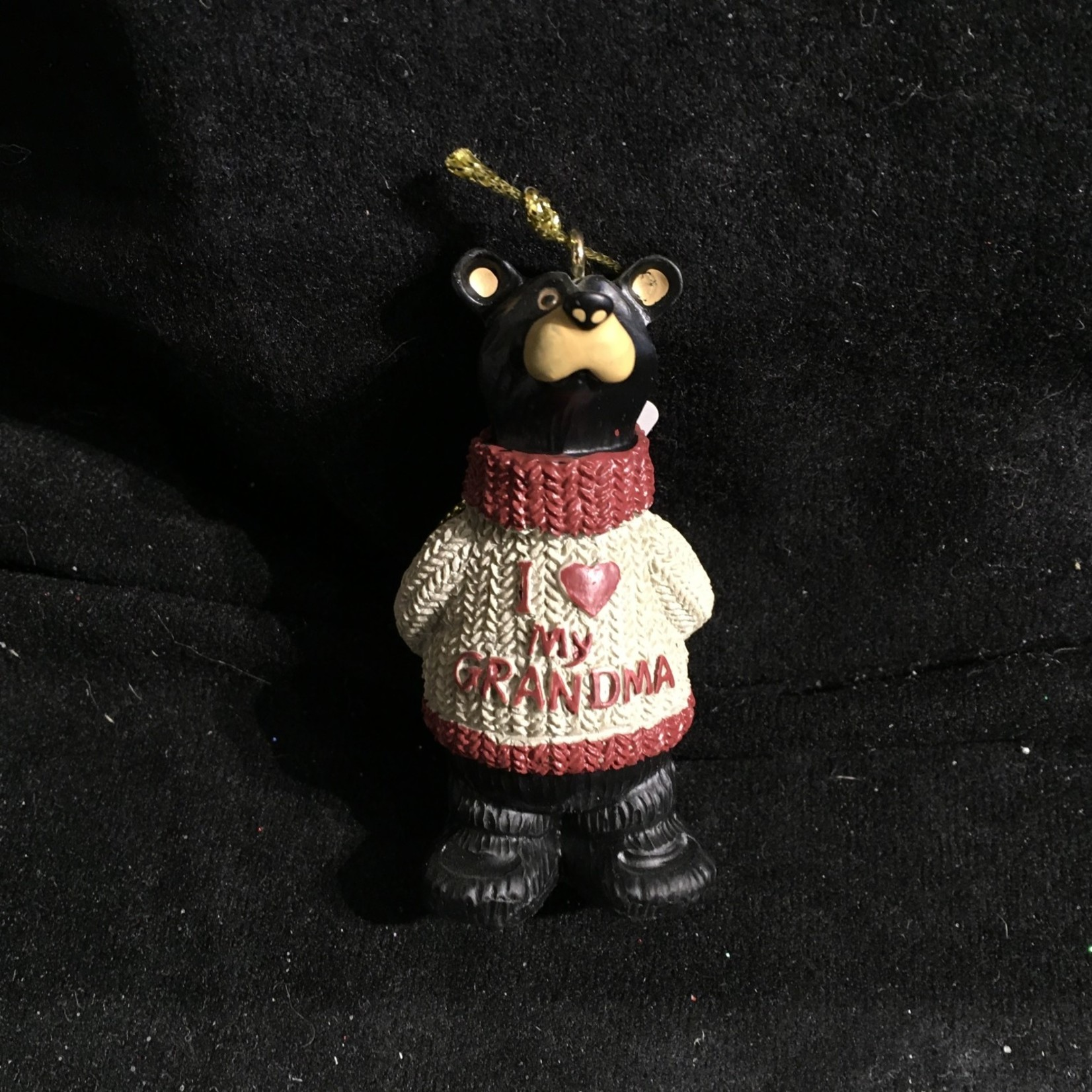 I Love Grandma Bear Ornament