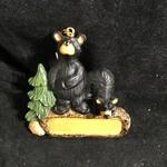 Bear Couple w/Tree Orn