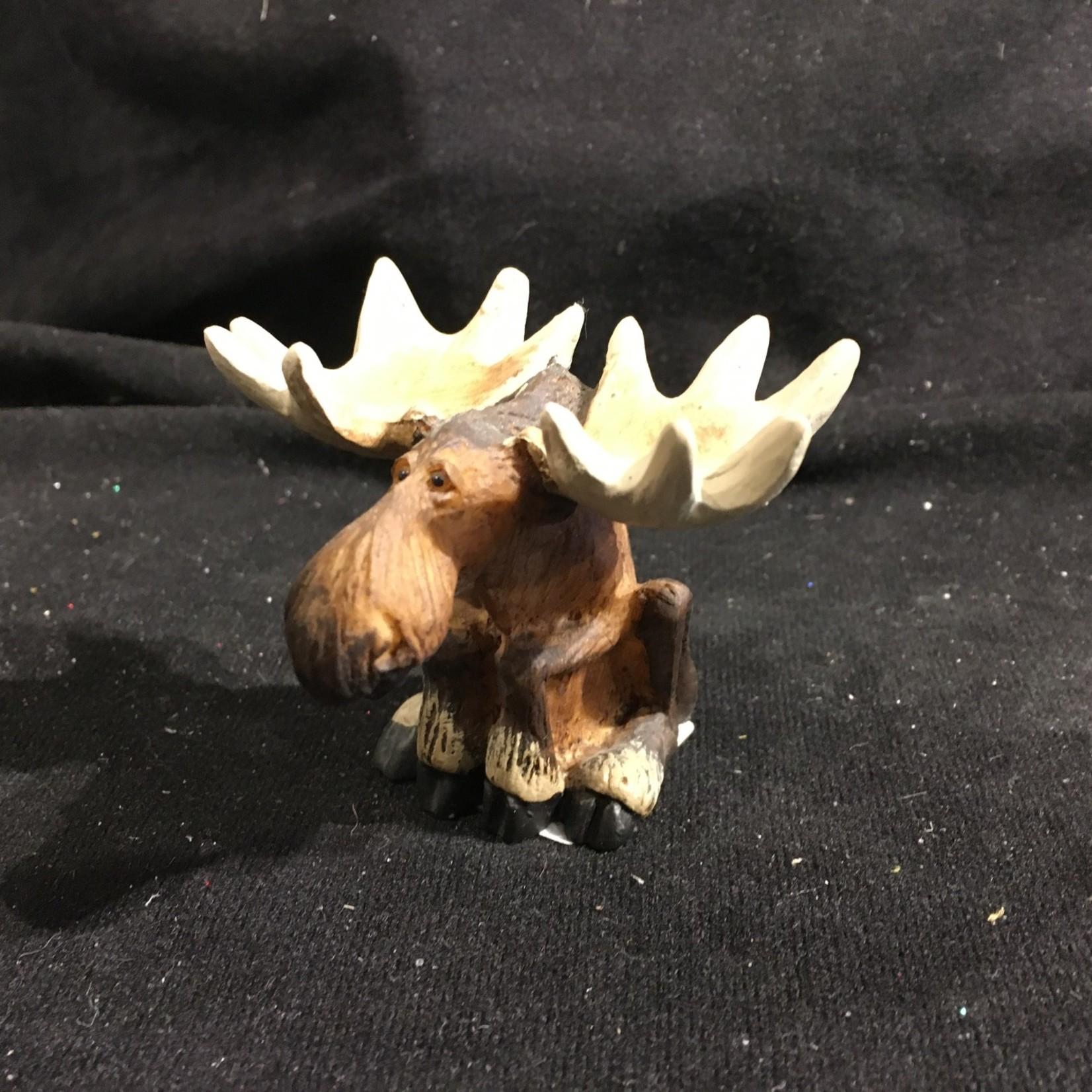 """2.5"""" Sitting Mini Moose Figurine"""
