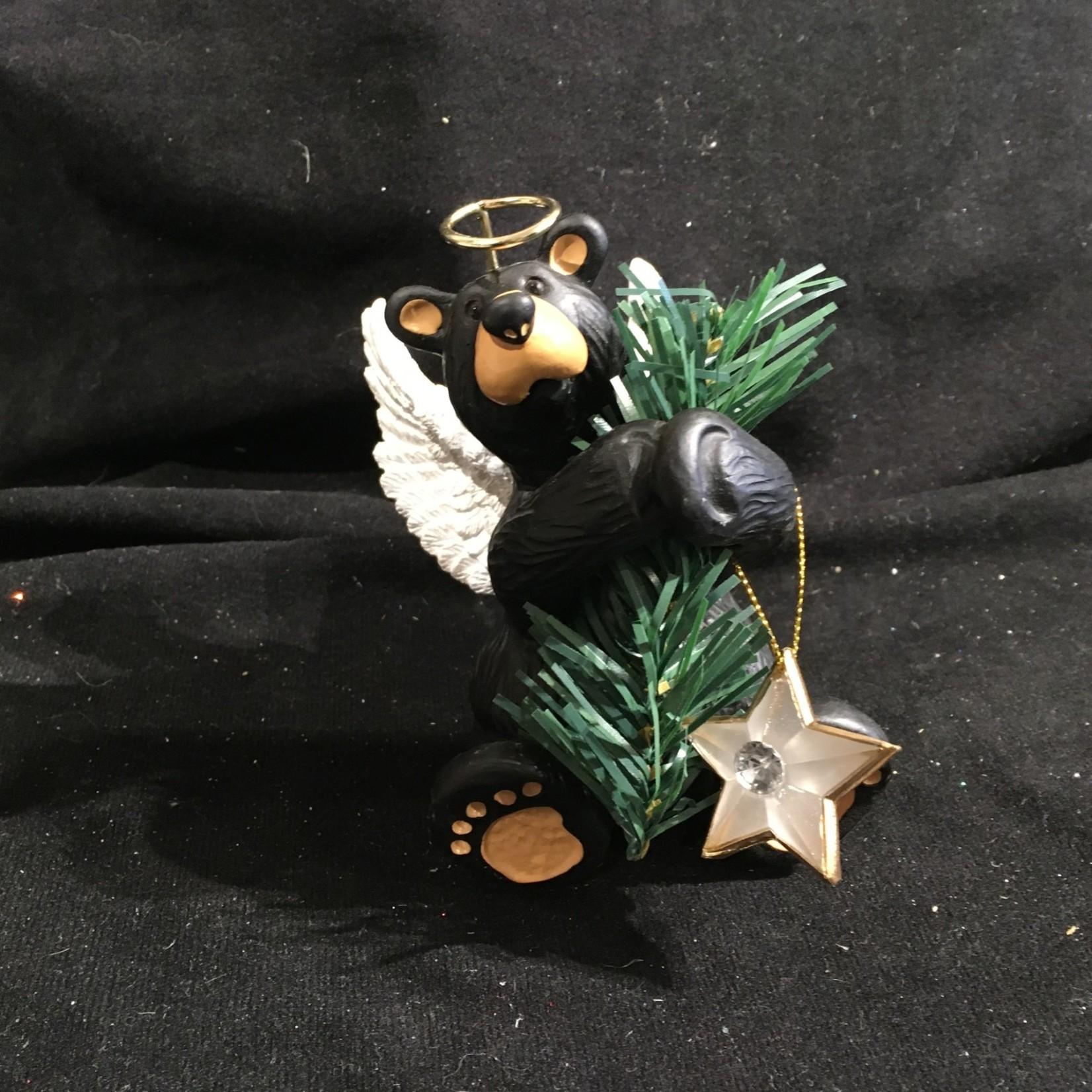 """4.5"""" Angel Bear Tree Topper Figurine"""