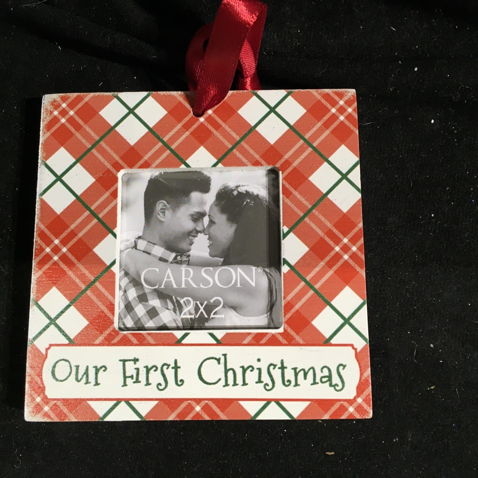 """Our First Christmas Frame Orn 2x2"""" Photo"""