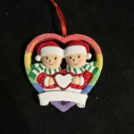 Female Couple Rainbow Ornament