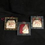 Santa Face in Square Frame Orn 3A
