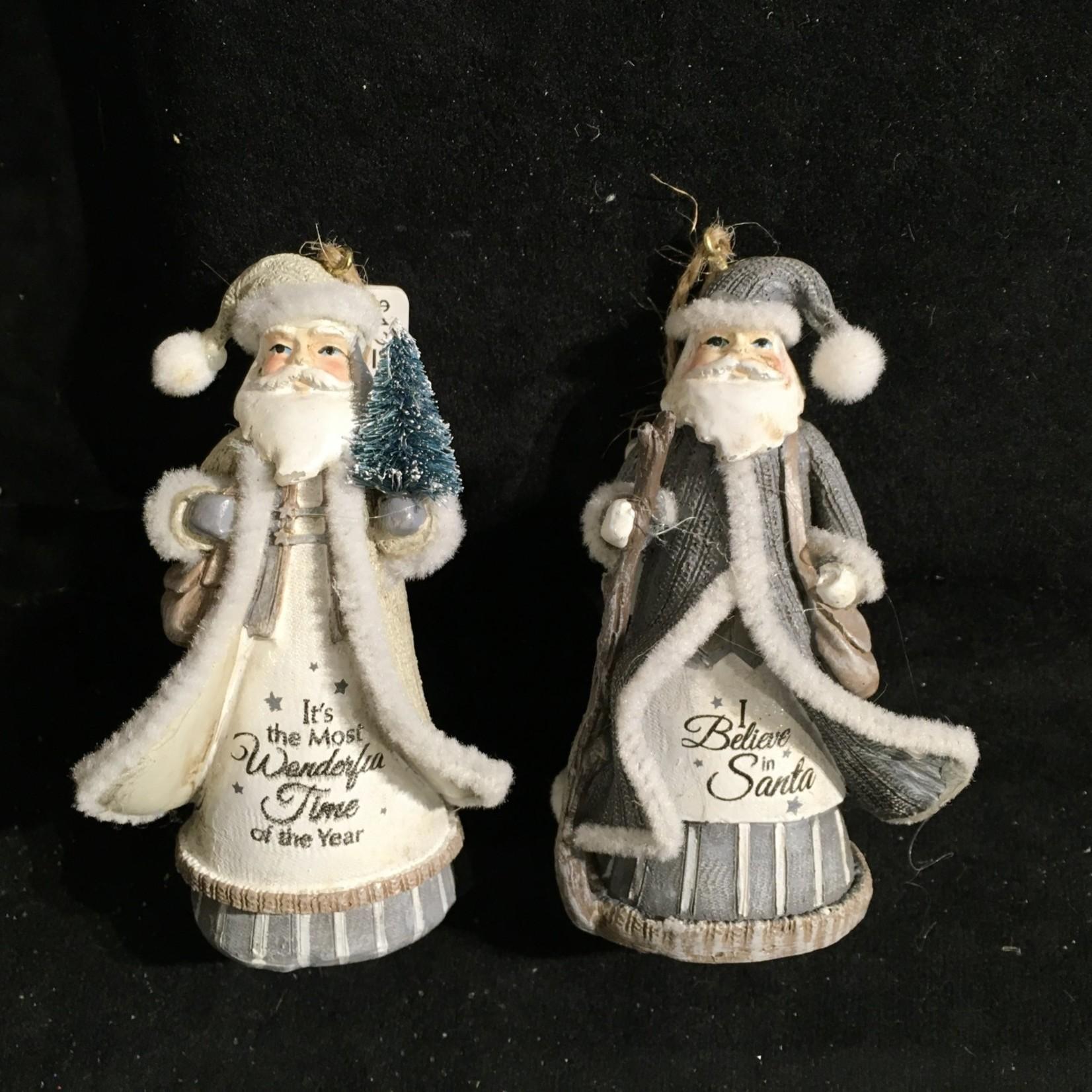 Santa w/Words Orn. 2A