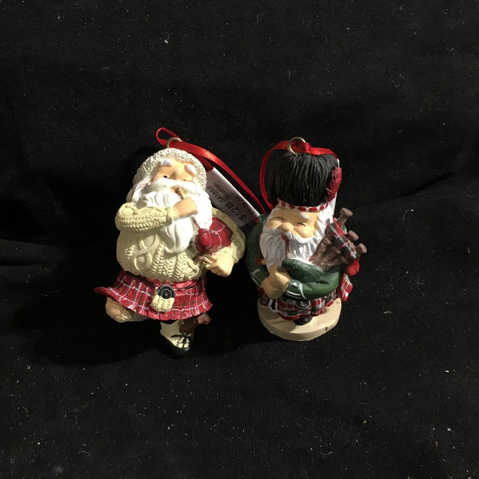 Scottish Santa Ornament 2A