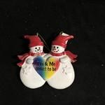 Rainbow Snow People Orn
