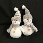 """**8.5"""" Soft Snowman Orn w/Gray Hat/Scarf 2A"""