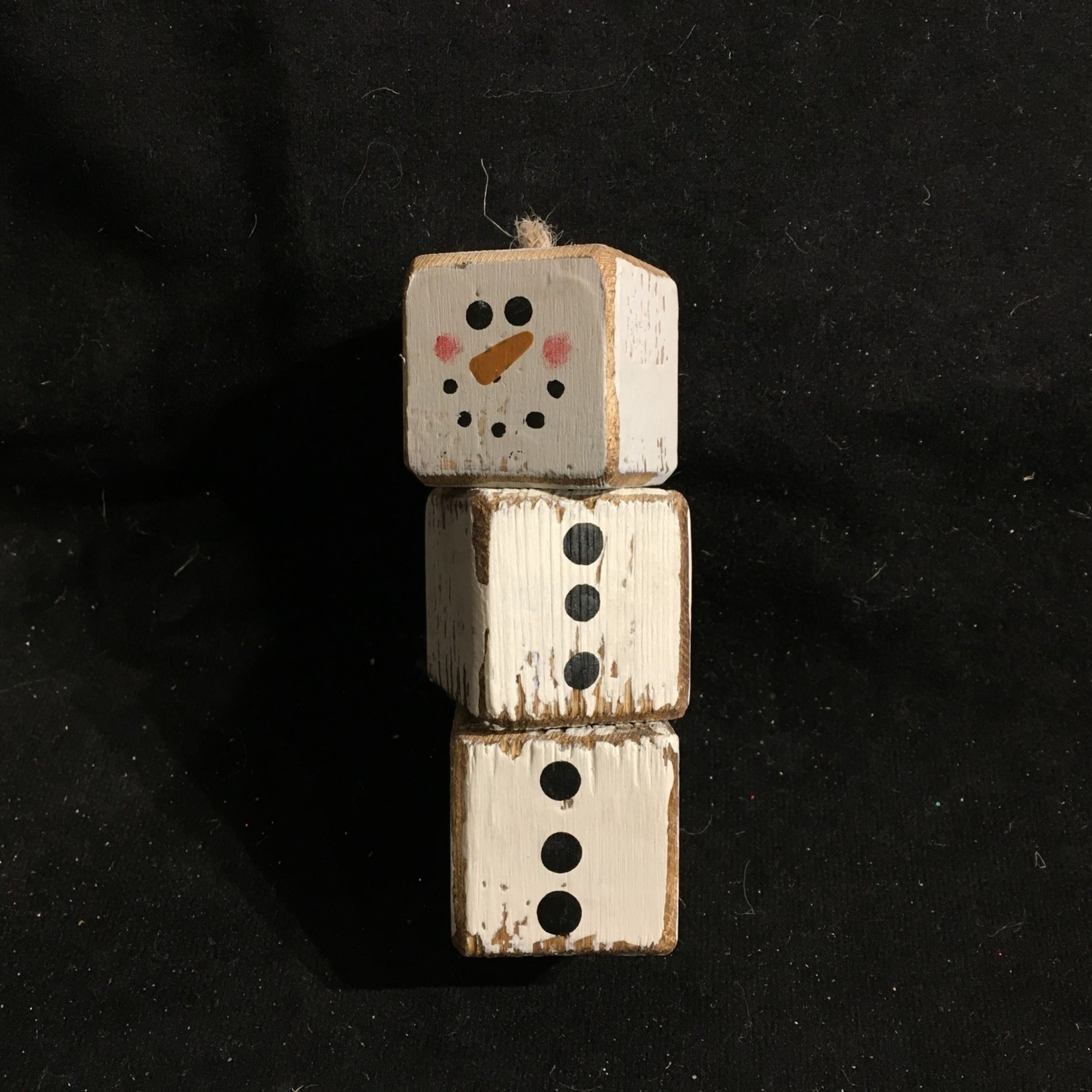 Cube Snowman Ornament