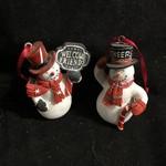 **Snowman w/ Chalkboard Sign Ornament 2A