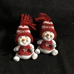 **Red/White Sitting Snowman 2A