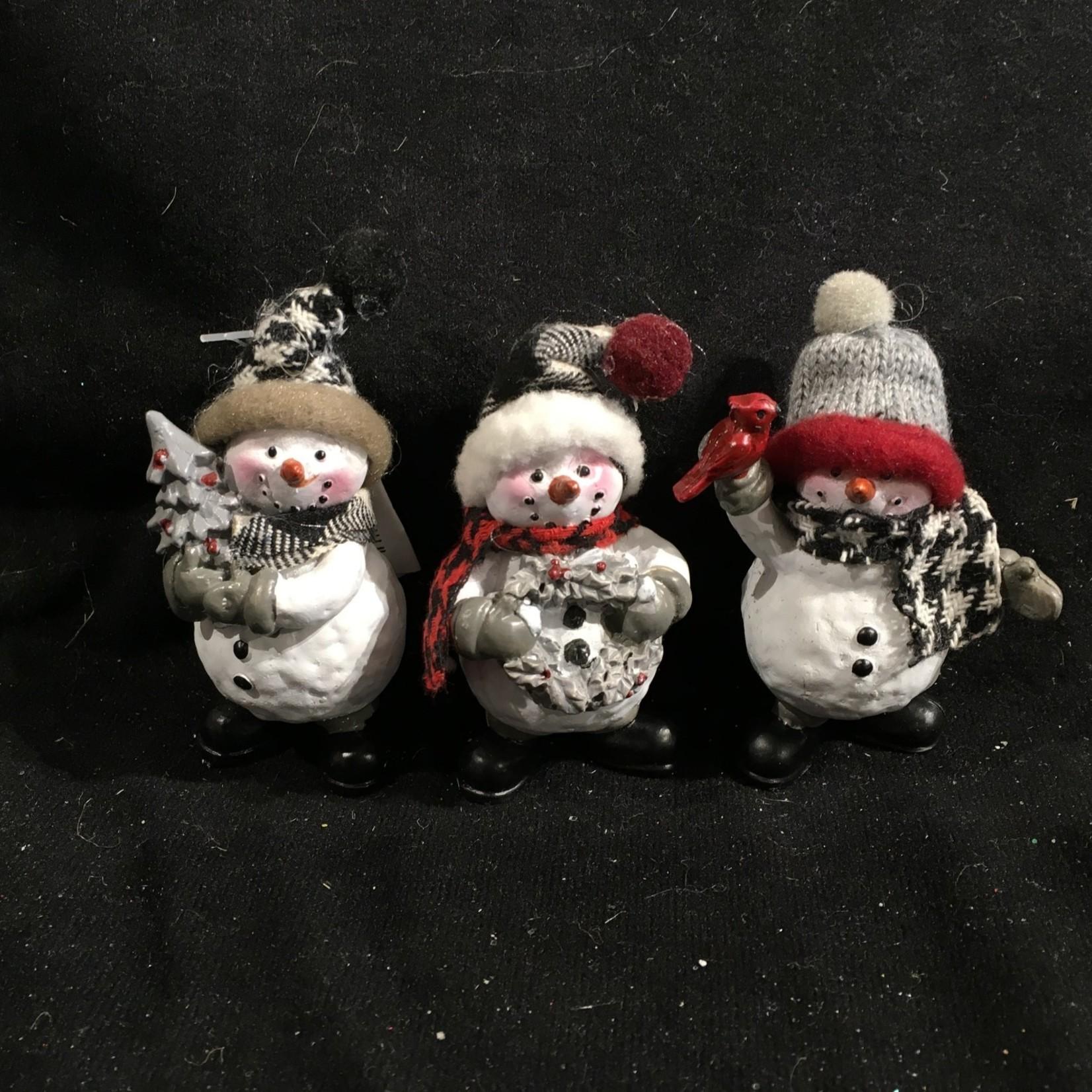 **Cozy Snowman Figurine 3A