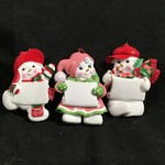 Snowman Ornament 6A (Pink S/O)