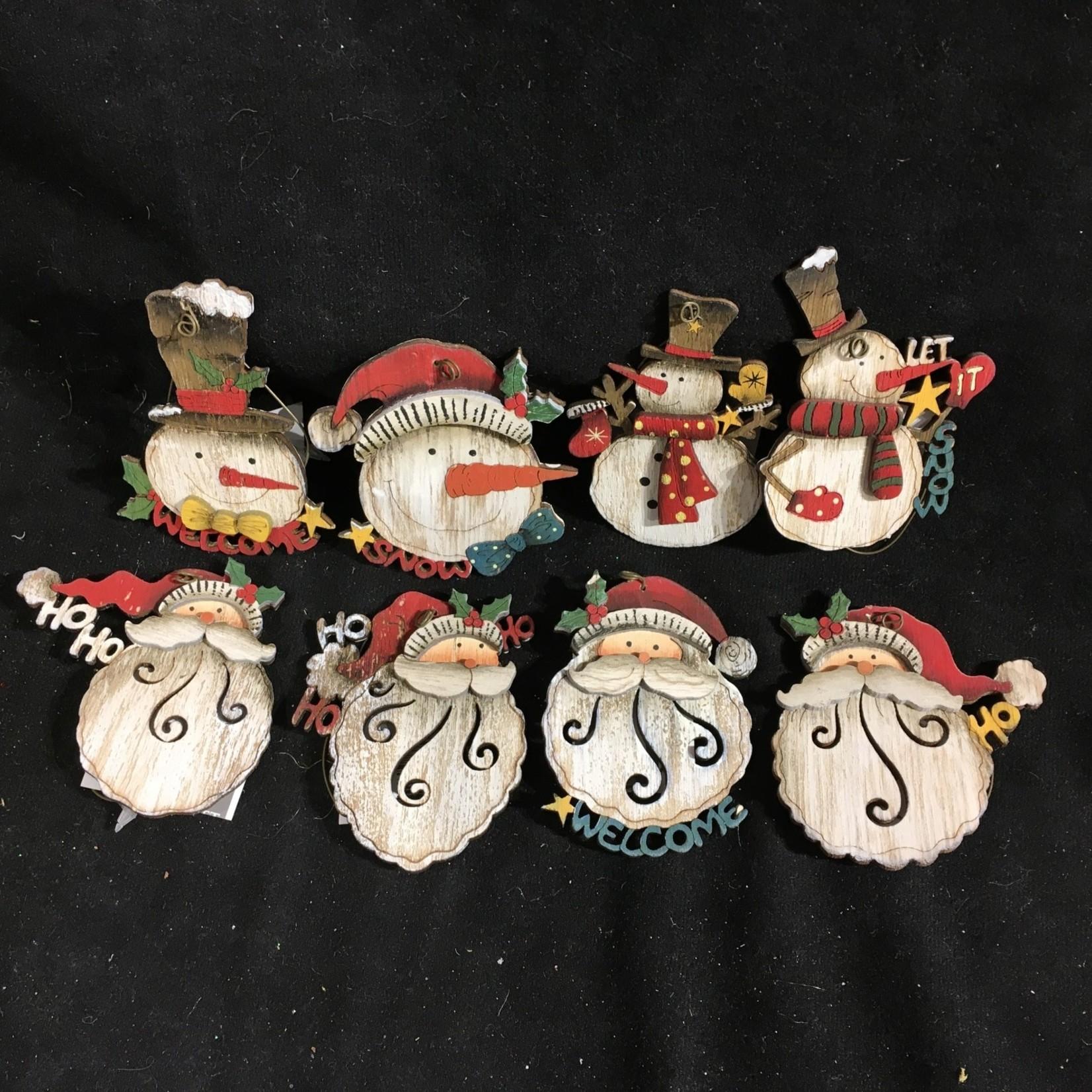 **Snowman/Santa Head Orn 8A