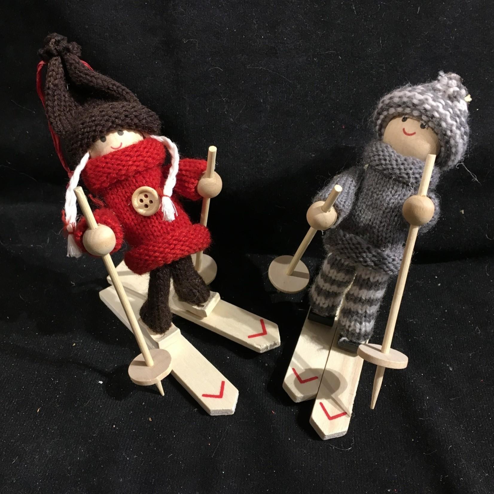Fabric Skier Orn 2A