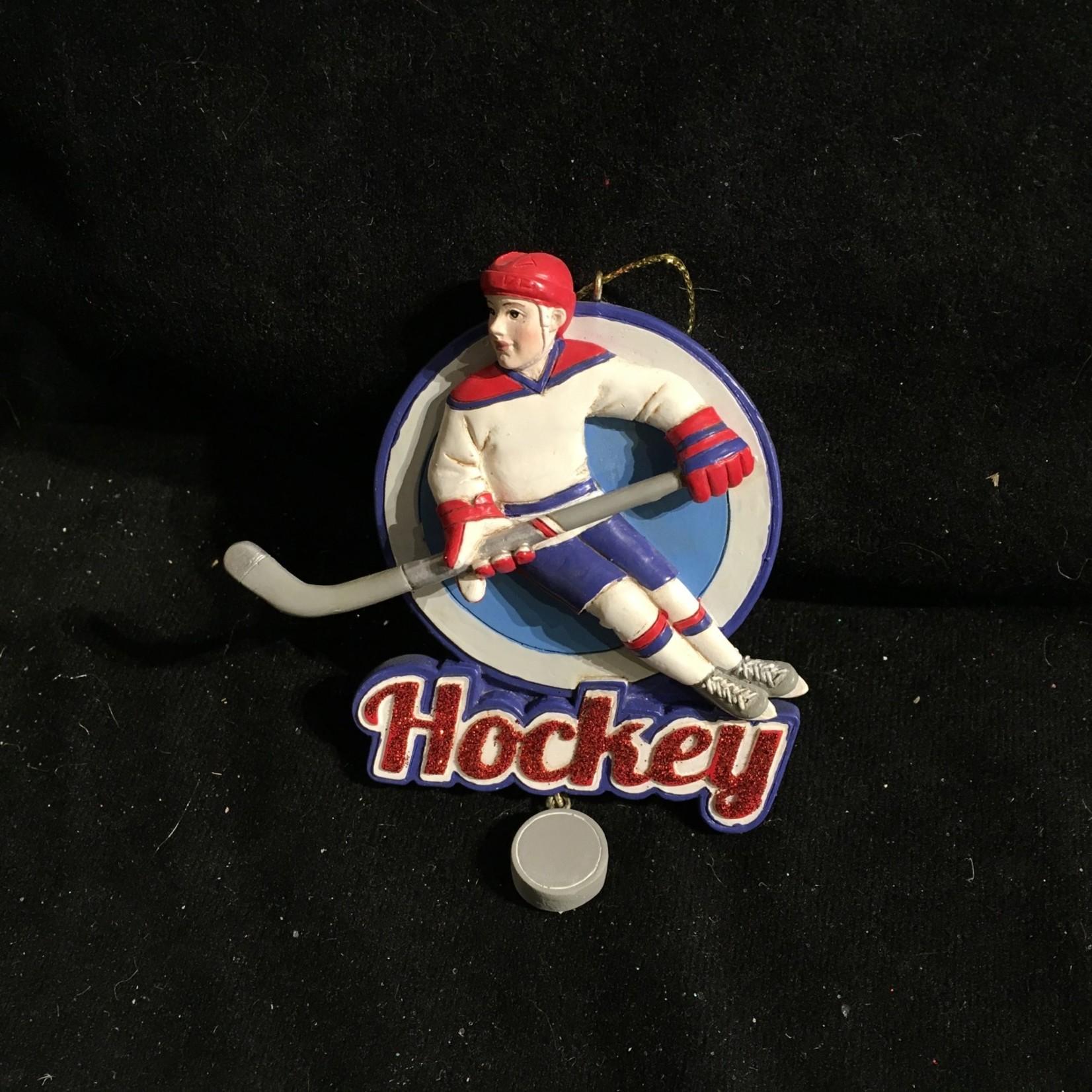 Ice Hockey Boy Orn