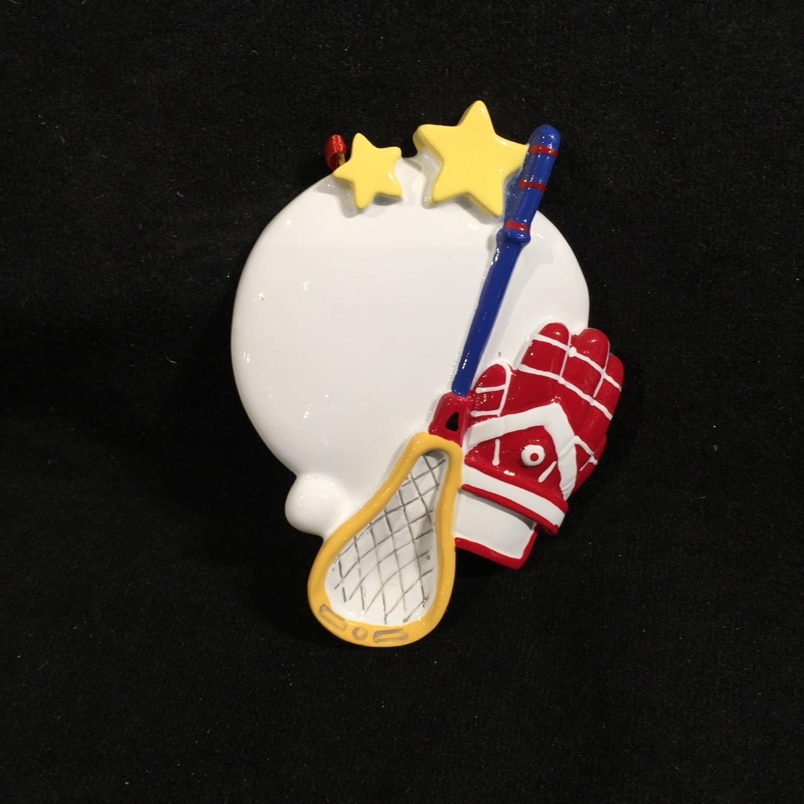 Lacrosse Star Orn