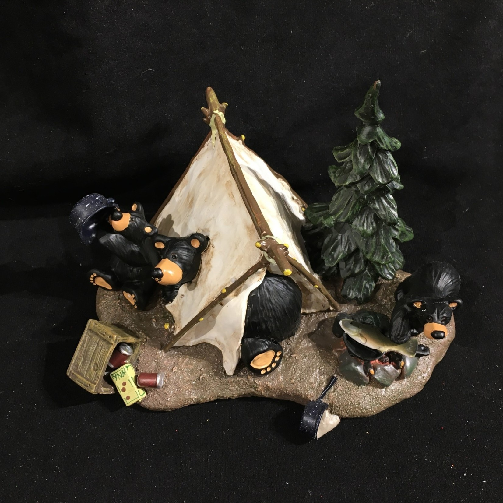 "7.7x5"" Camp Runamuck Bear Figurine"