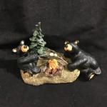 "7.5x4"" Campfire Memories Bear Figurine"