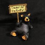 "4"" I'm Fluffy Bear Figurine"