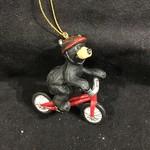 Bear on Bike Ornament