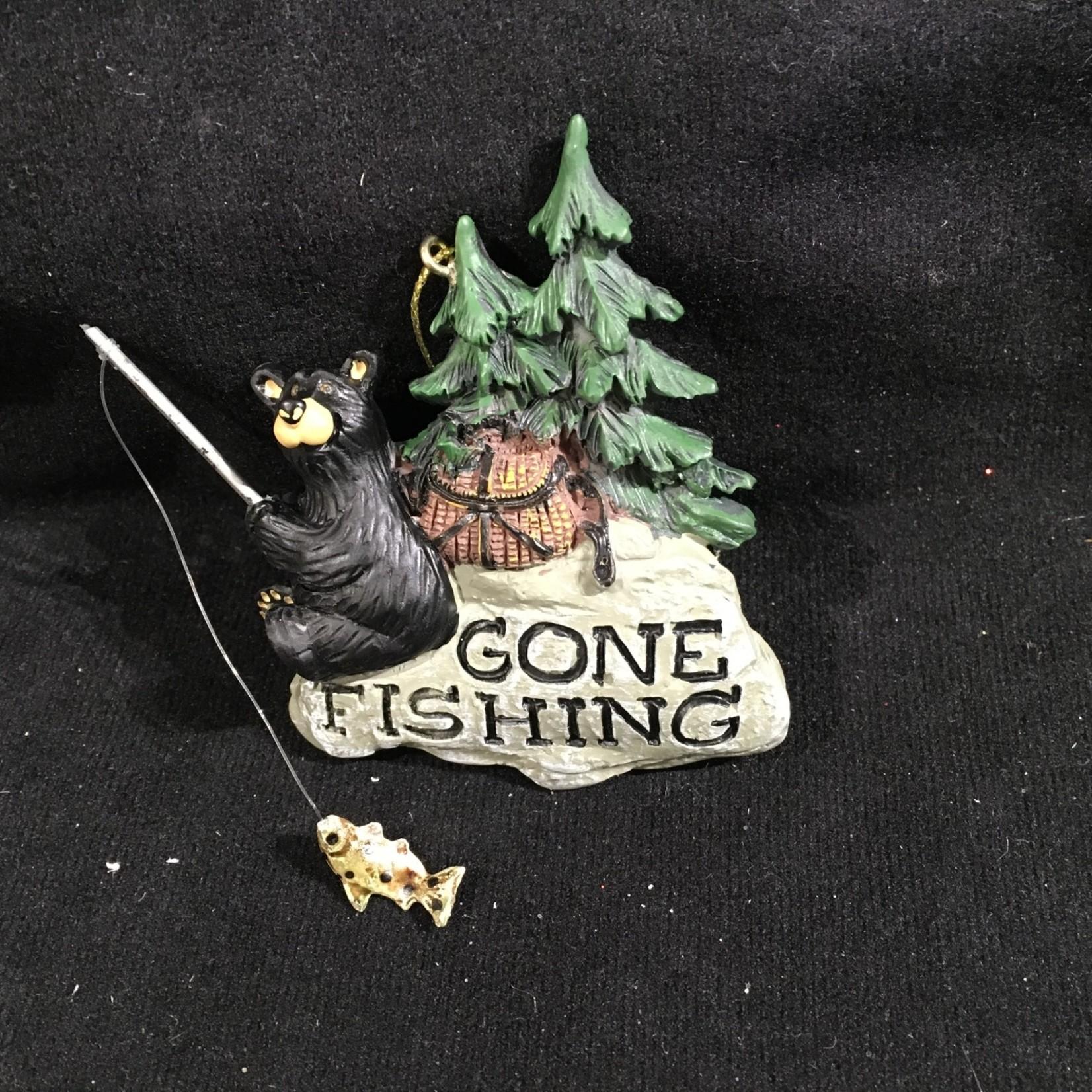 Bear Gone Fishing Ornament