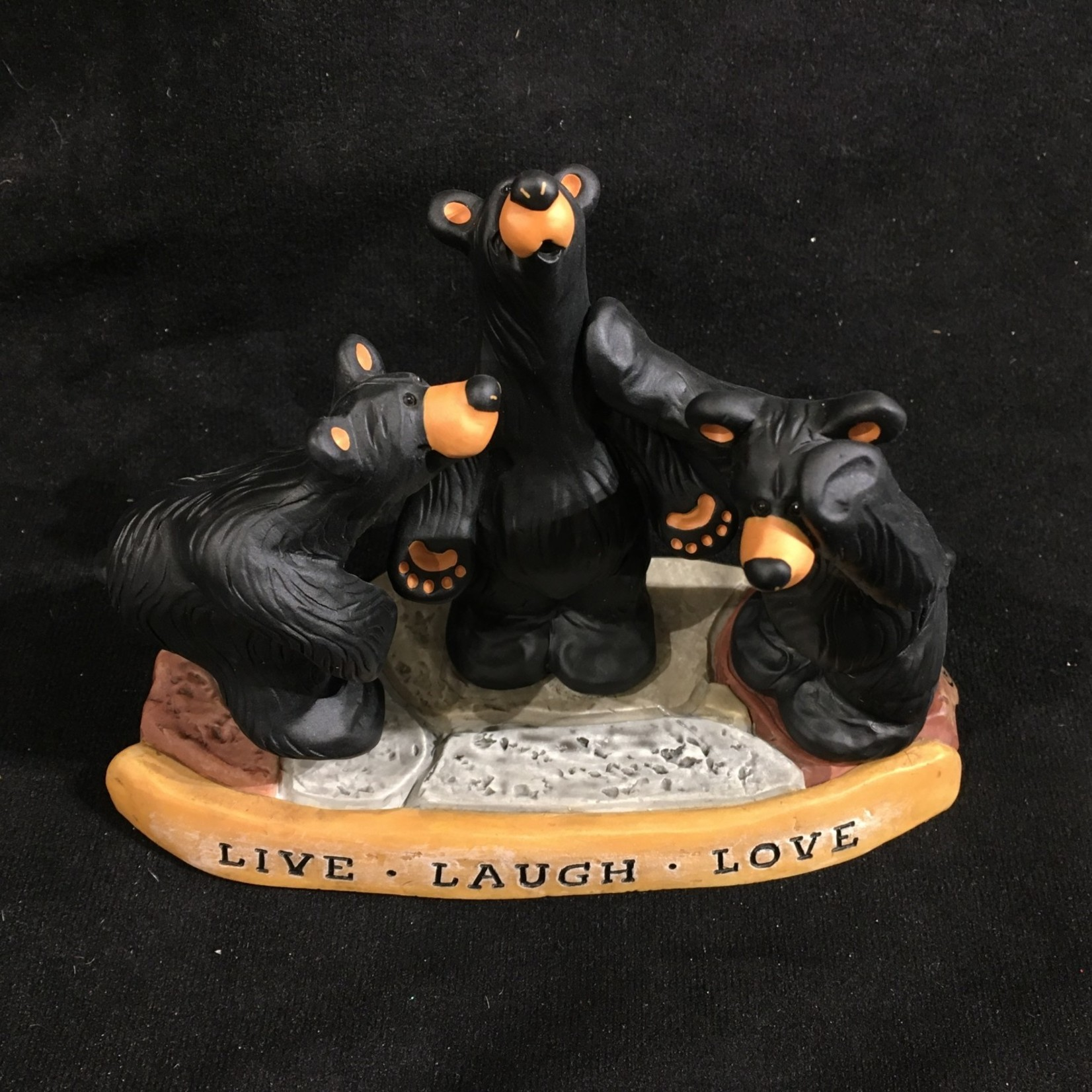 "6x4"" Live, Laugh, Love Bear Figurine"