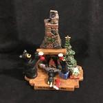 "6.5x7"" Christmas Eve Bear Figurine"