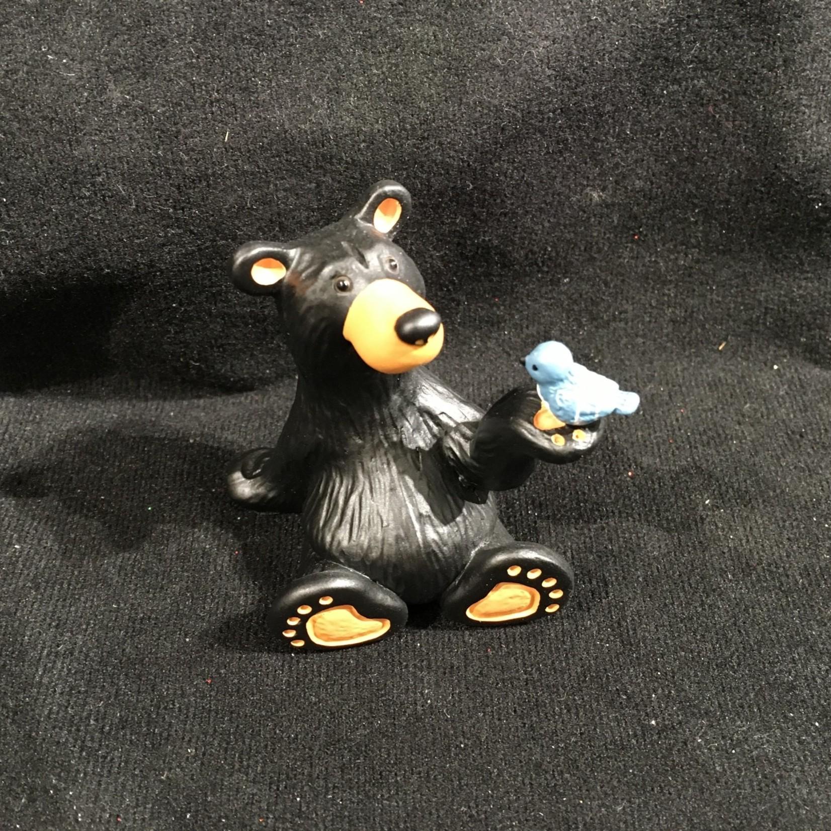 "2.5"" Mini Bear w/Bird Figurine (no box)"