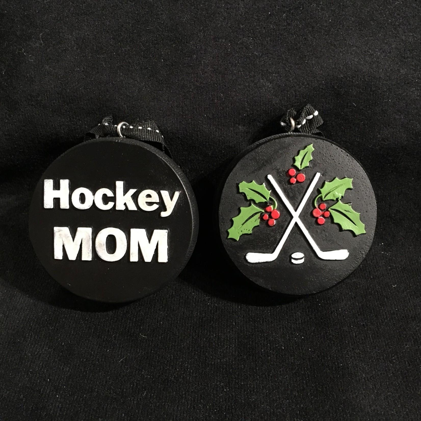 Hockey Mom Puck Orn