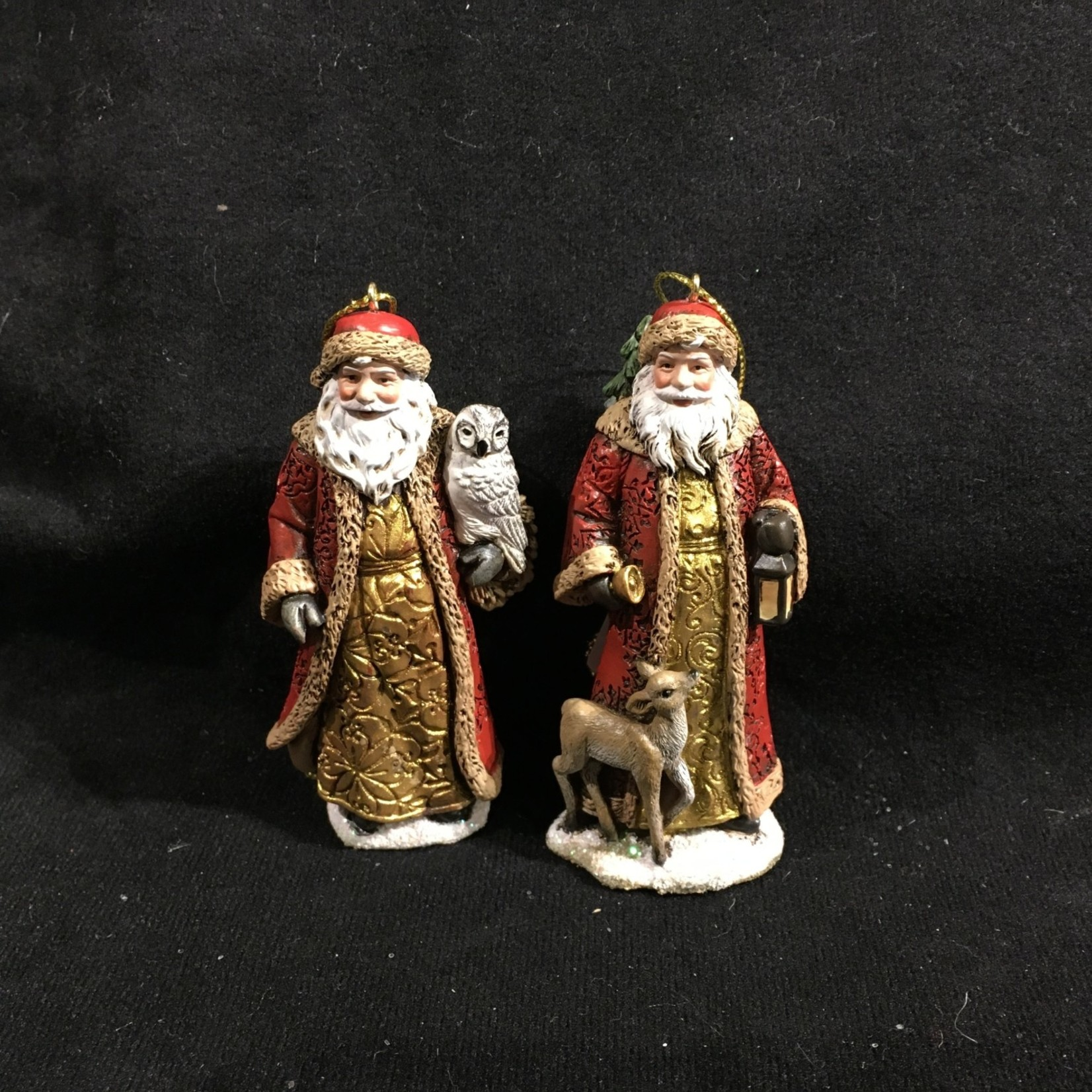 Santa w/Gold Gown Orn 2A