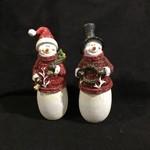 """**8"""" Snowman in Sweater Figurine 2A"""