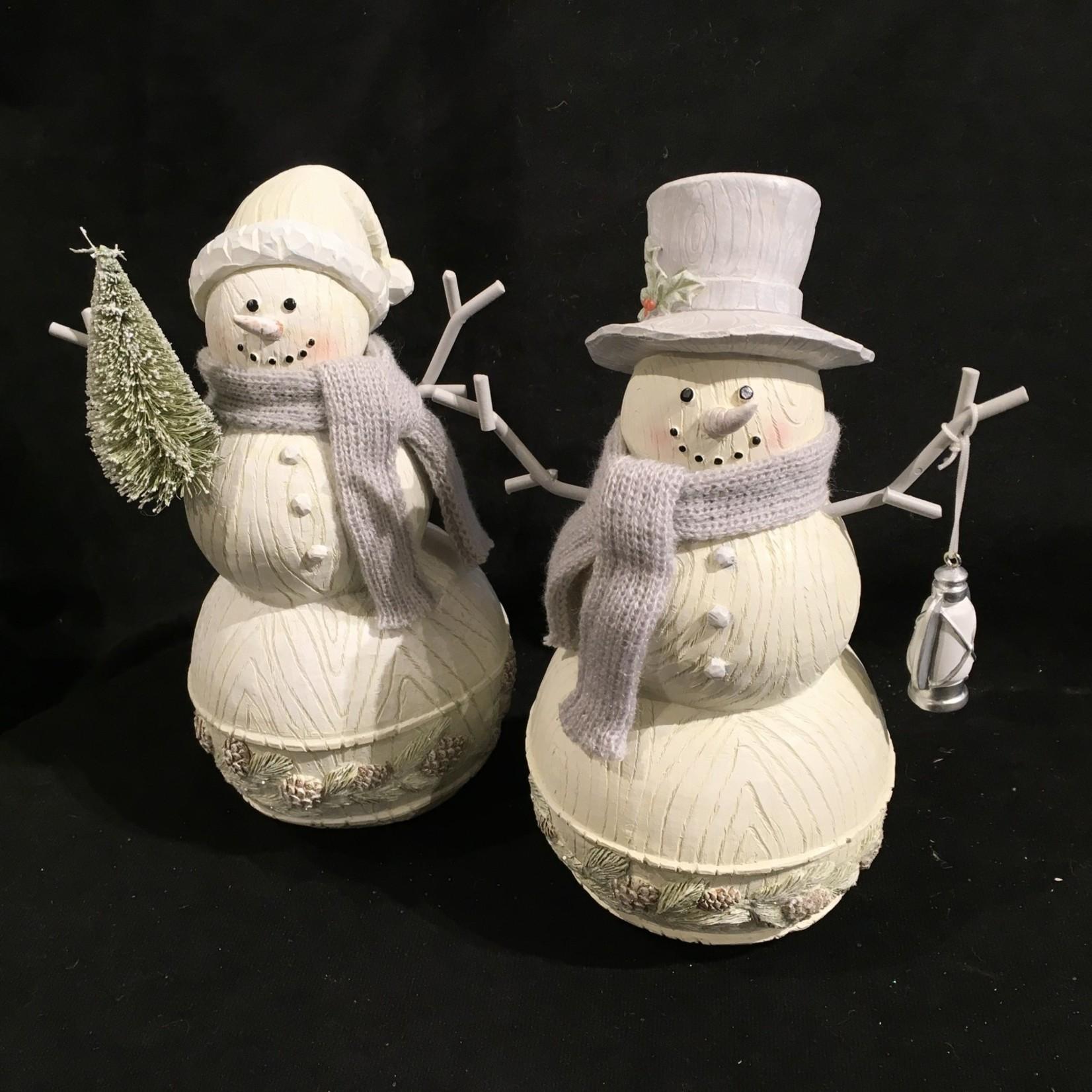 "8.5"" Snowman w/Scarf Figurine 2A (no box)"