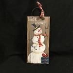 """10.5"""" Snowman Plaque"""
