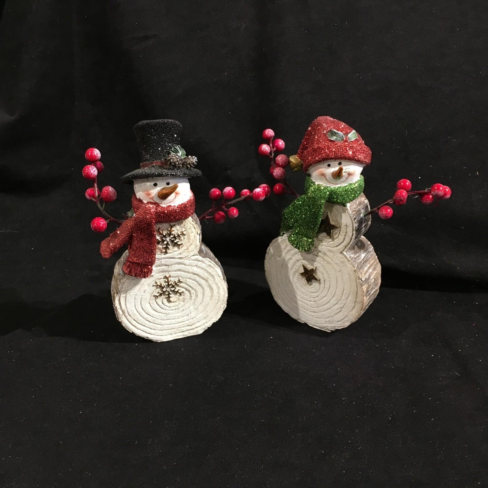 "7"" Snowman w/Berry Arms Figurine 2A"