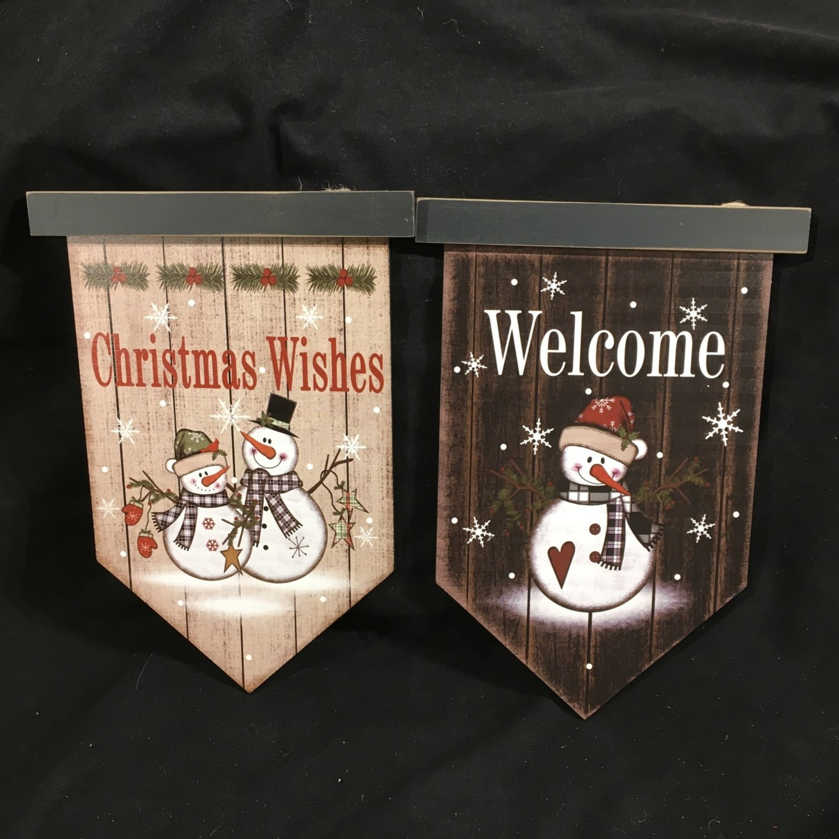 """13"""" Christmas Wishes Banner 2A"""