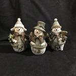 """6"""" Rustic Snowman Figurine 3A"""