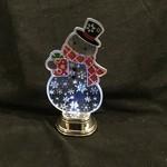 "7"" LED Flashing Snowman"