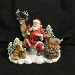 "9.5x9"" Santa w/Animals Figurine"