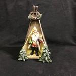 "9"" LED Santa in a Tent Figurine (box)"