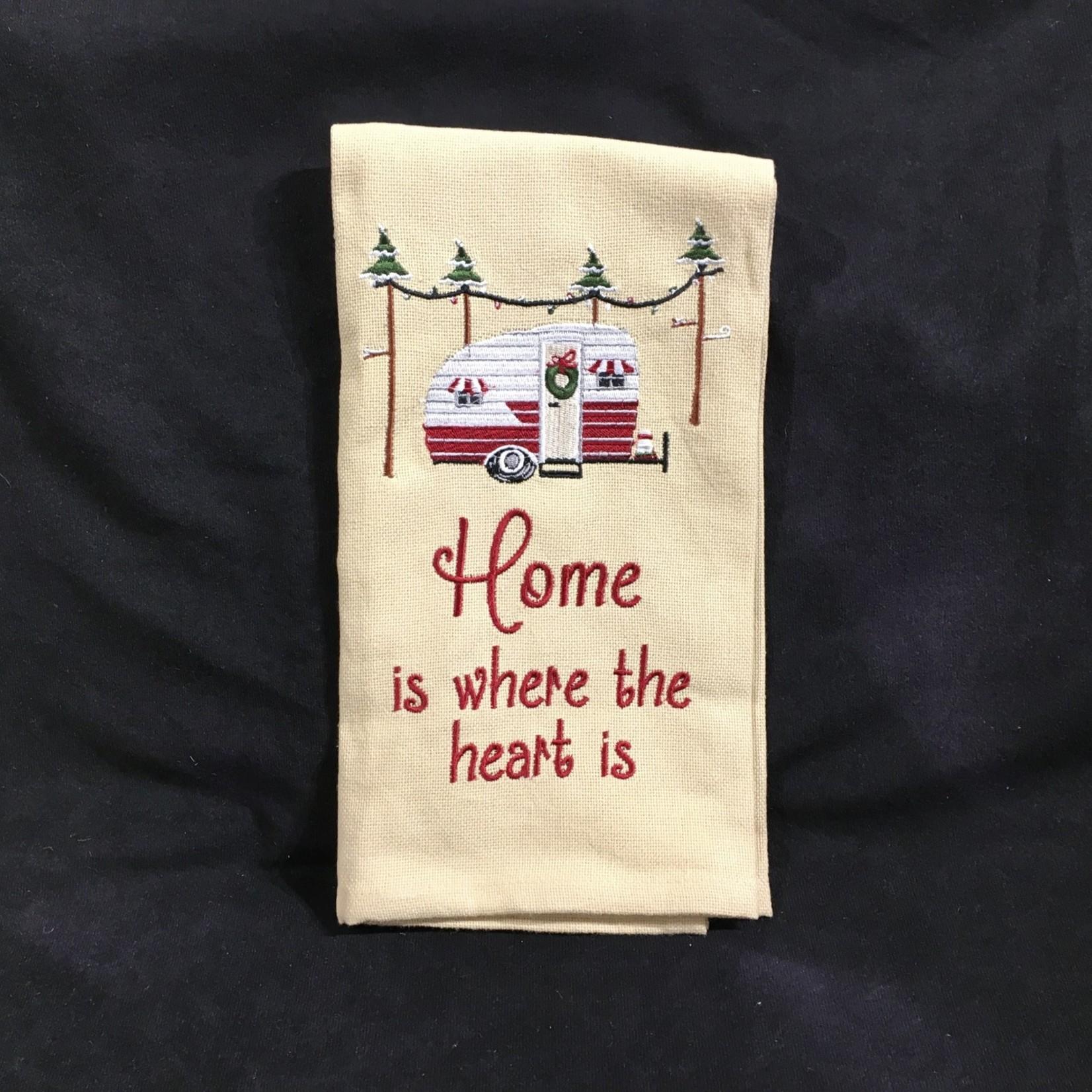 Home Is Where The Heart Is Tea Towel