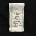 Welcome To The Lake Tea Towel