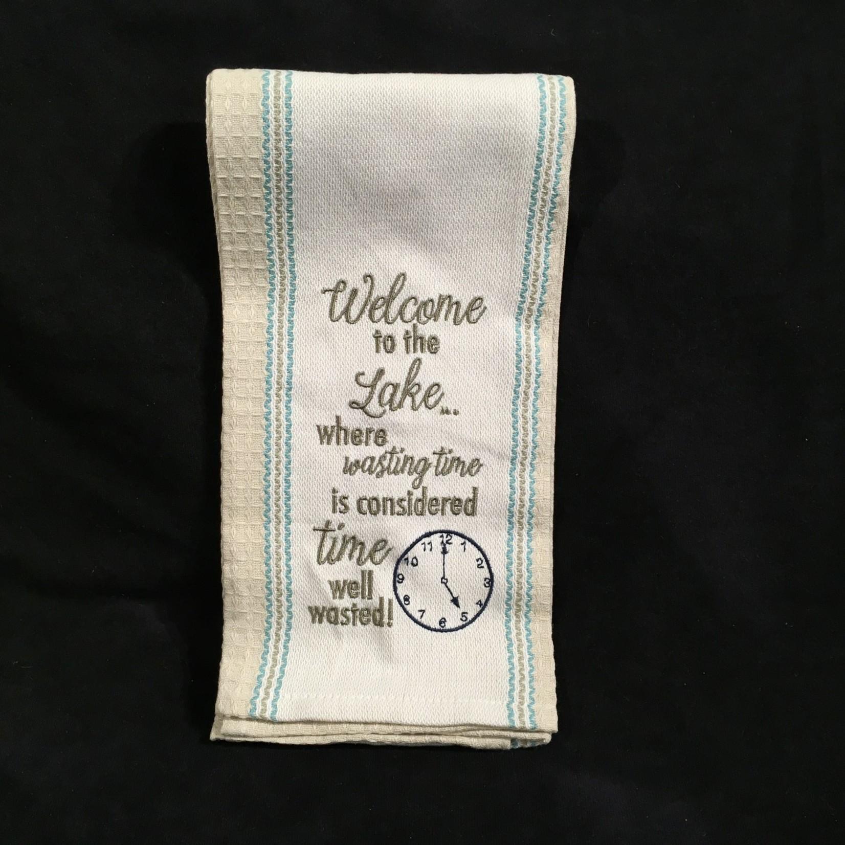 Welcome To The Lake Tea Towel