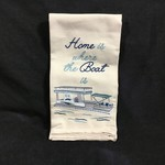 Where The Boat Is Tea Towel