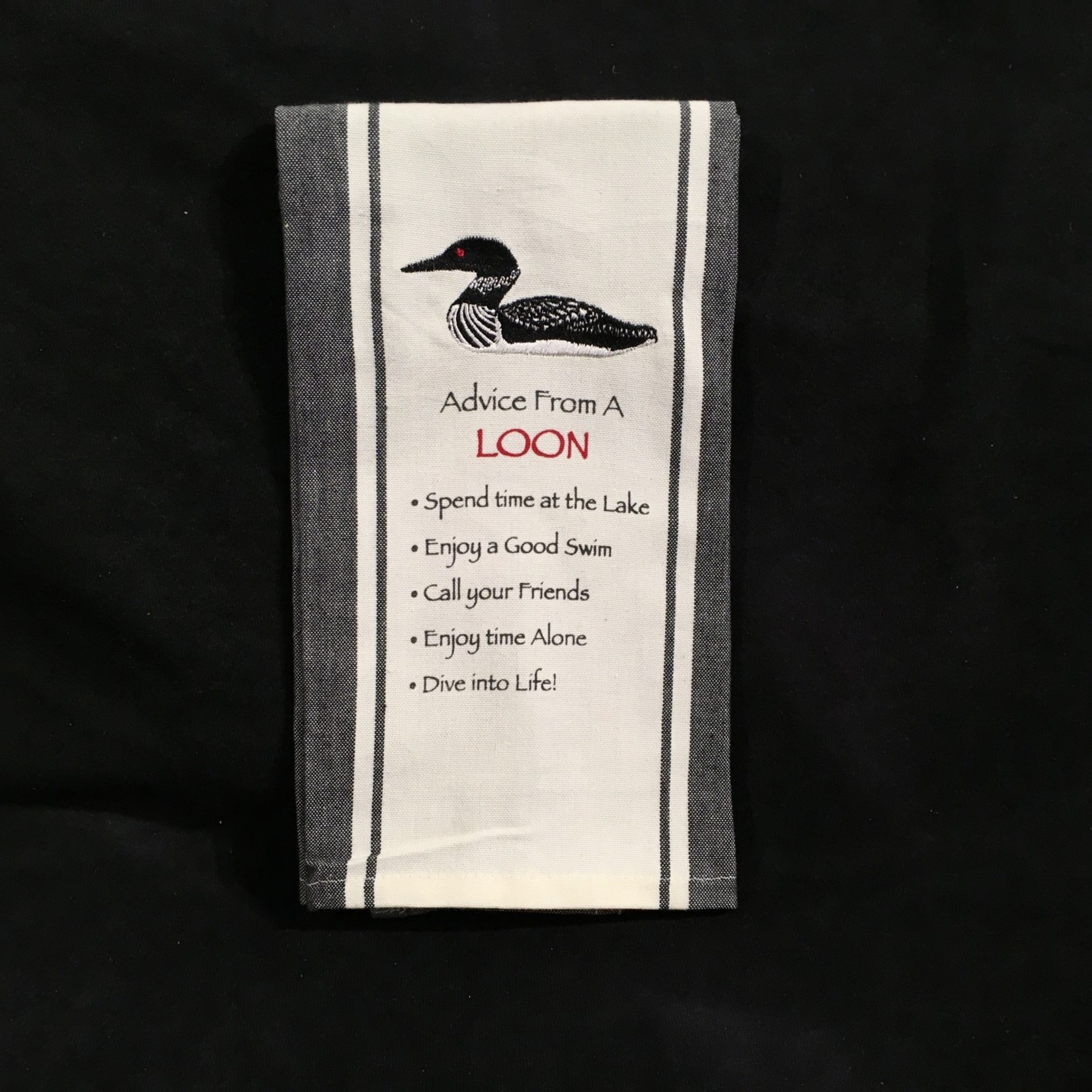 **Advice From A Loon Tea Towel