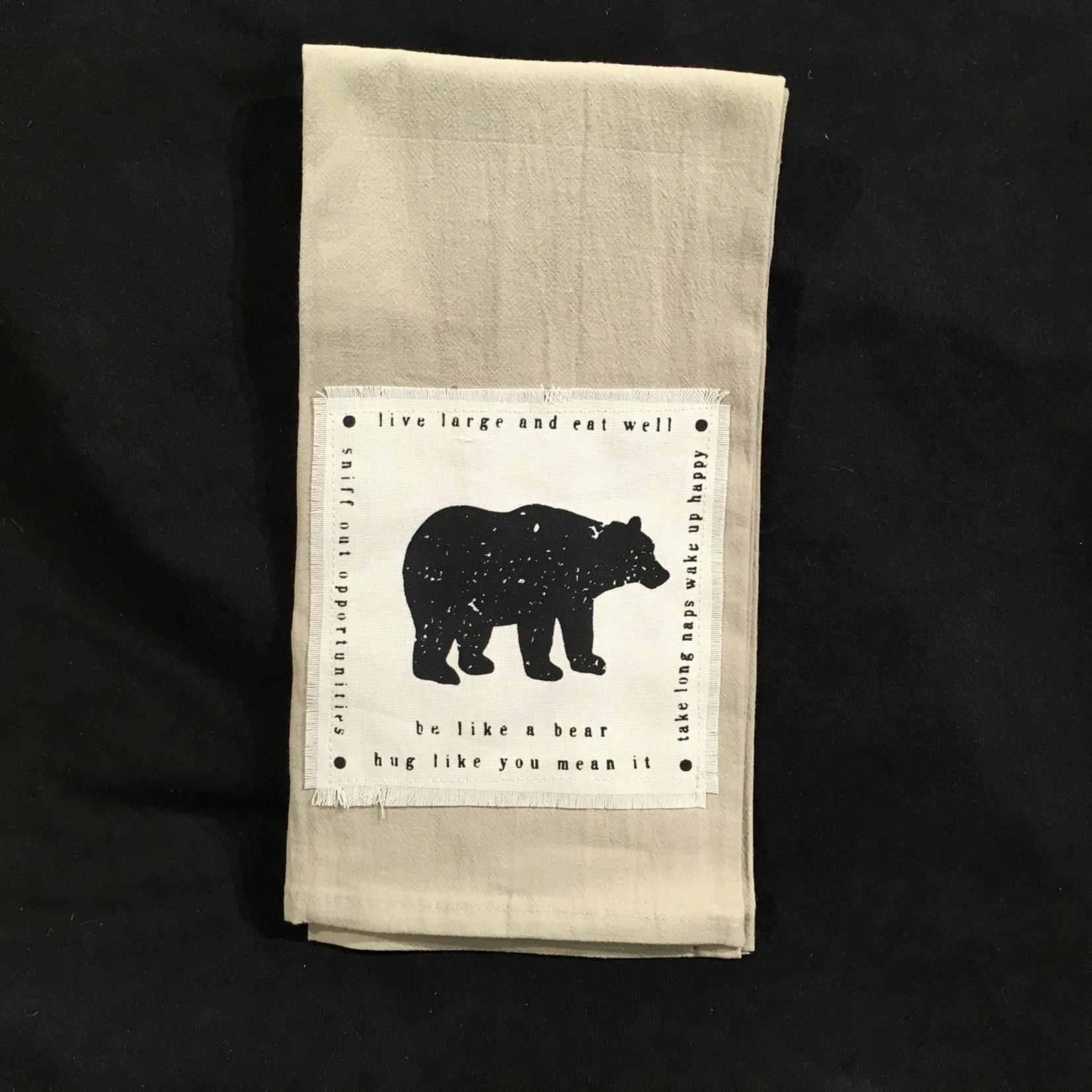 **Be Like A Bear Tea Towel