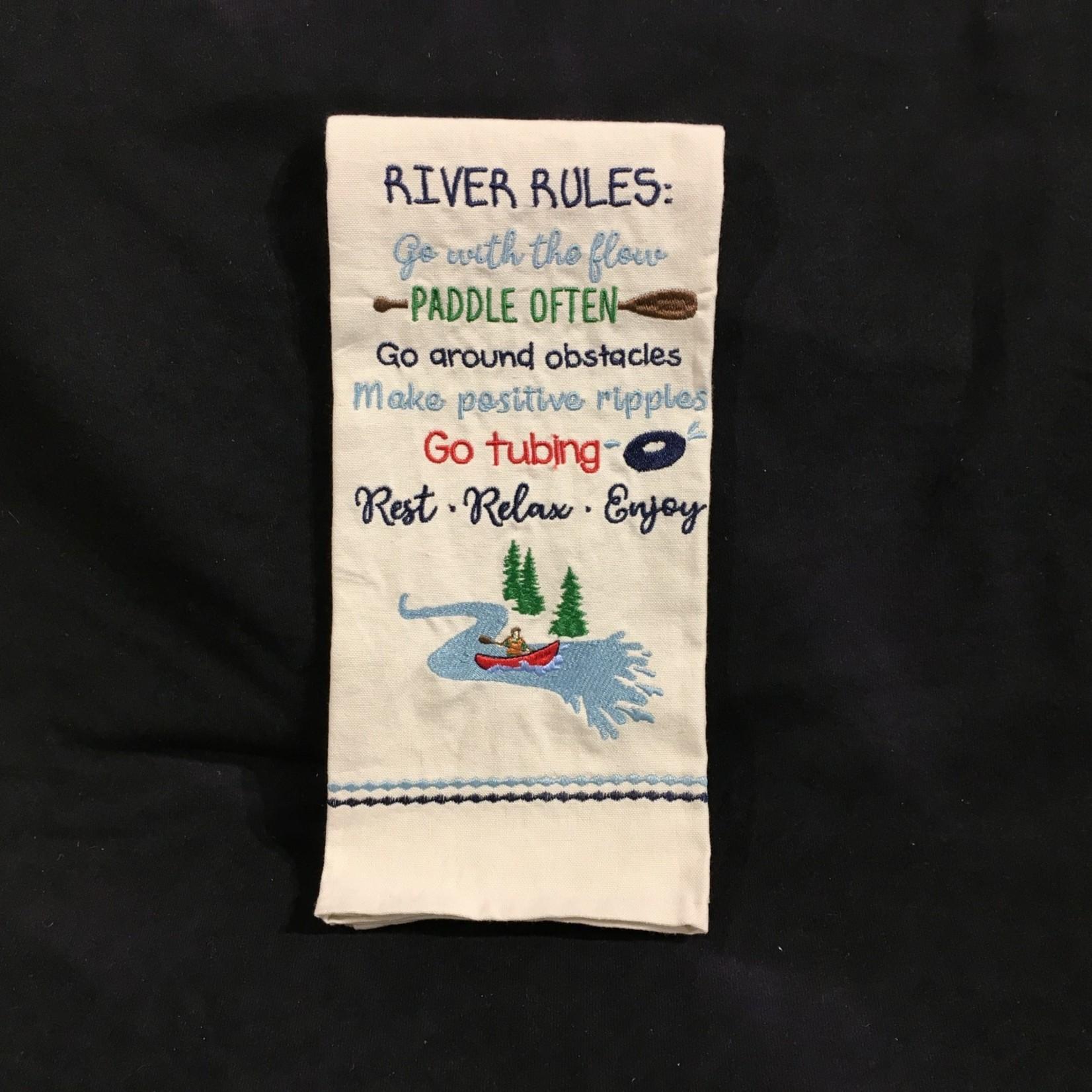 River Rules Tea Towel