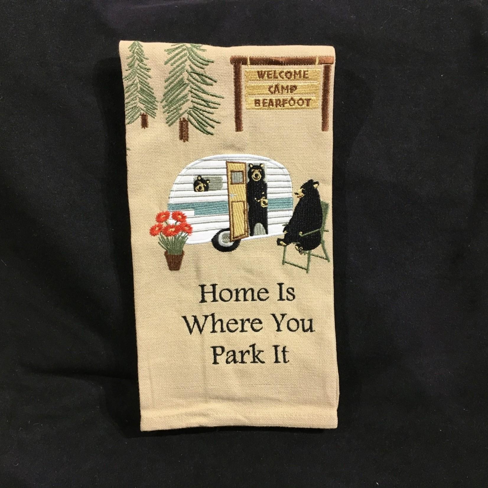 Home Is Where You Park It Tea Towel